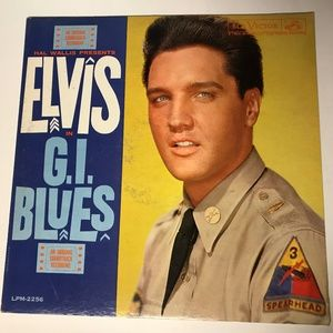 Music Record Album Vinyl Elvis GI Blues